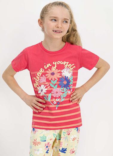 Roly Poly  Believe Yourself Nar Çiçeği Kısa Kollu Kadın Pijama Takımı Kırmızı